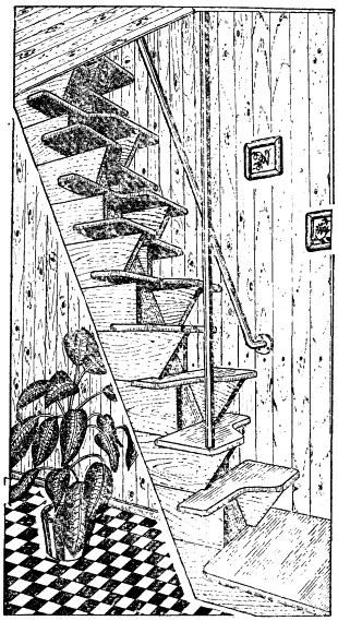 Лестница «утиный шаг».