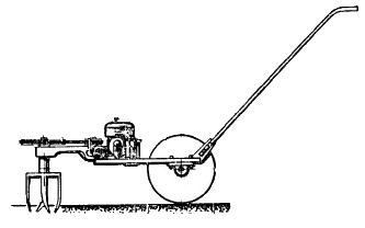 Самодельный бензиномоторный рыхлитель