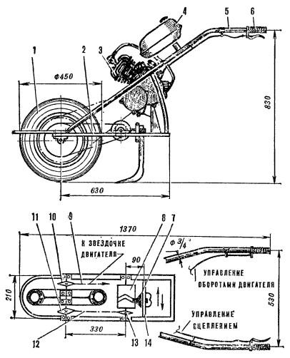 Мотокультиватор с виброножом