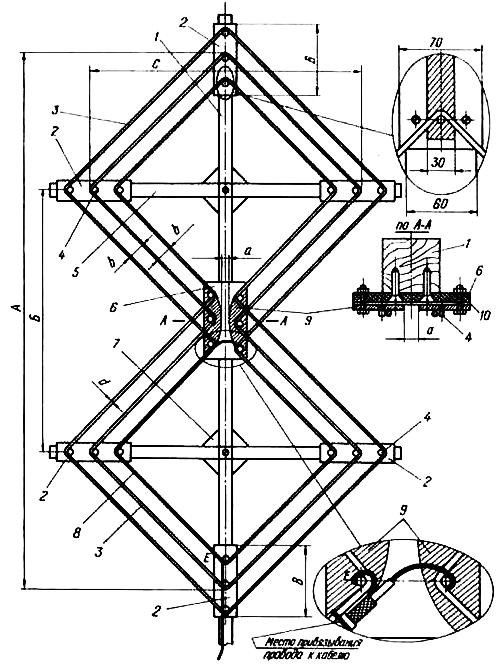 Наружная зигзагообразная проволочная двухстороннейаправленная антенна