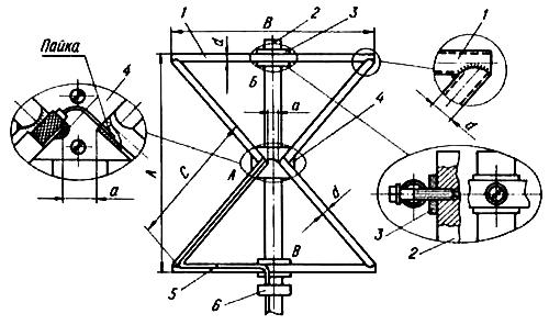 Наружная двойная треугольная зигзагообразная сварная антенна из трубок