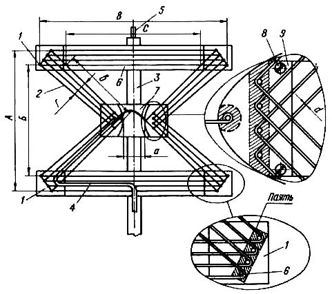 Наружная проволочная двойная треугольная антенна