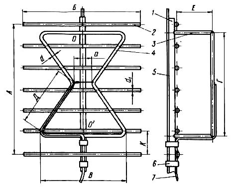 Наружная цельносварная двойная треугольная антенна с экраном