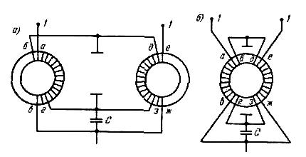 УСС типа «симметрирующе-согласующий трансформатор на ферритах»
