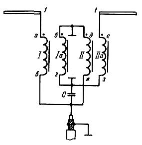 Схема соединений ССТФ с активным вибратором
