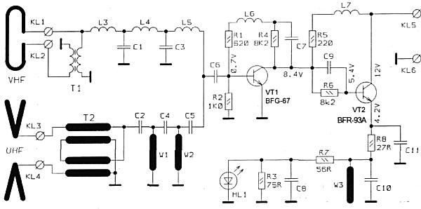 Принципиальная схема антенны DEXTA NOWA