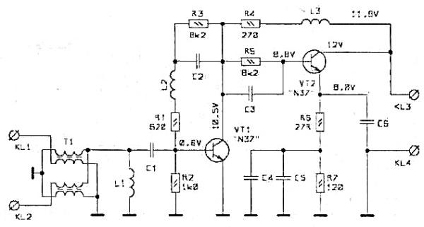 Принципиальная схема PA-9