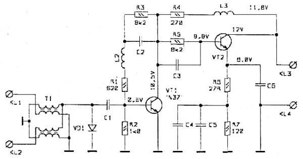 Принципиальная схема S&A-140