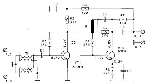 Принципиальная схема GPS WA-032