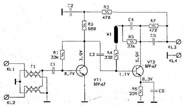 Принципиальная схема GPS WA-041