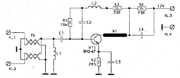 Принципиальная схема PA-2