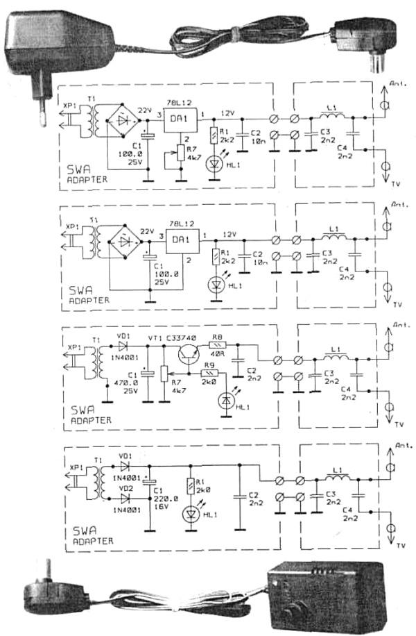 SWA adapter - принципиальная схема