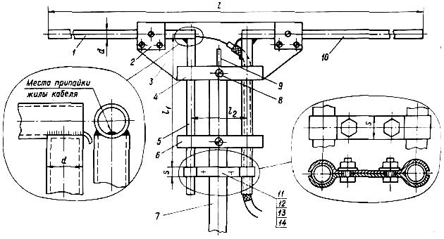 Полуволновой линейный разрезной вибратор с четвертьволновым короткозамкнутым мостиком