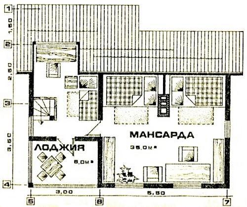 Дом для дачного участка «Комфорт-1»
