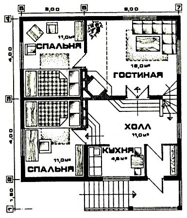 Дом для дачного участка «Комфорт-2»