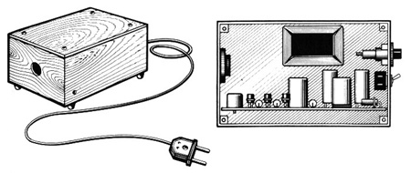 Внешний вид акустического выключателя и размещение деталей внутри корпуса