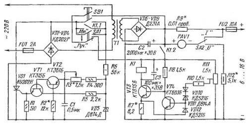 Автоматические устройства для зарядки аккумуляторов