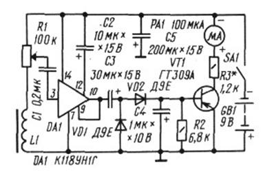 Детектор скрытой проводки со стрелочным индикатором