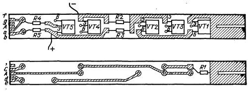 Печатная плата шупа с семисегментным индикатором