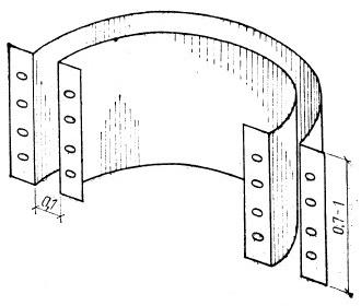 Рис. 19. Скользящая опалубка из листового железа