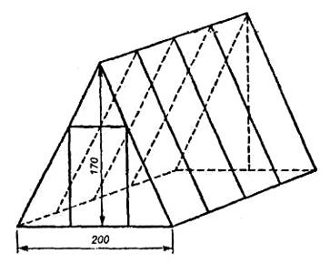Схема теплицы шалашного типа