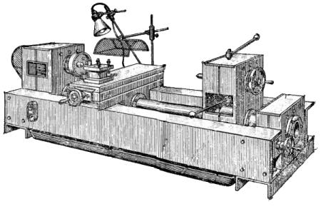 Общий вид самодельного токарного станка по металлу