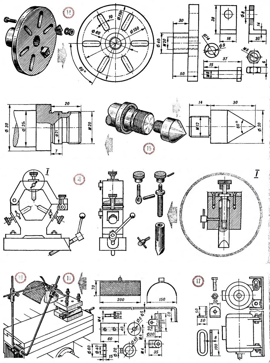 Детали самодельного токарного станка по металлу