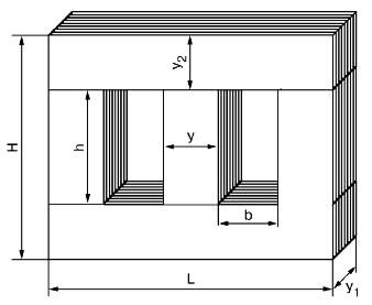 Броневой магнитопровод трансформатора.