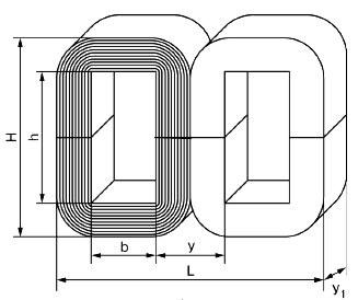 Броневой ленточный магнитопровод трансформатора.