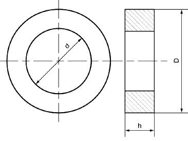Кольцевай ферритовый магнитопровод трансформатора.