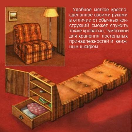 кресло-кровать состоит из