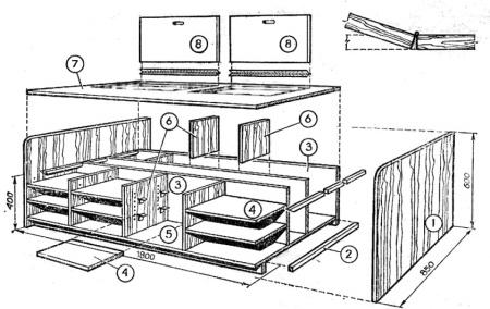 Складная кровать - шкаф