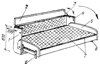 Трансформирующийся низ двухъярусной кровати в положении «кровать»