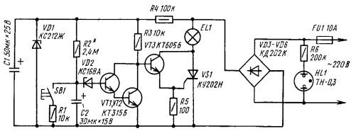 Схема автомата лестничного освещения
